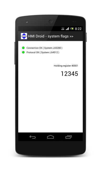 hmi droid system flags