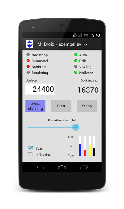 HMI android app touch SCADA smartphone phone application mobile operator panel human machine interface