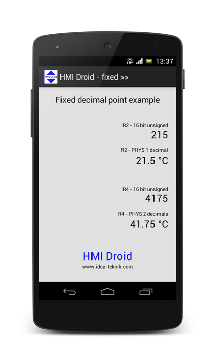hmi android fixed point
