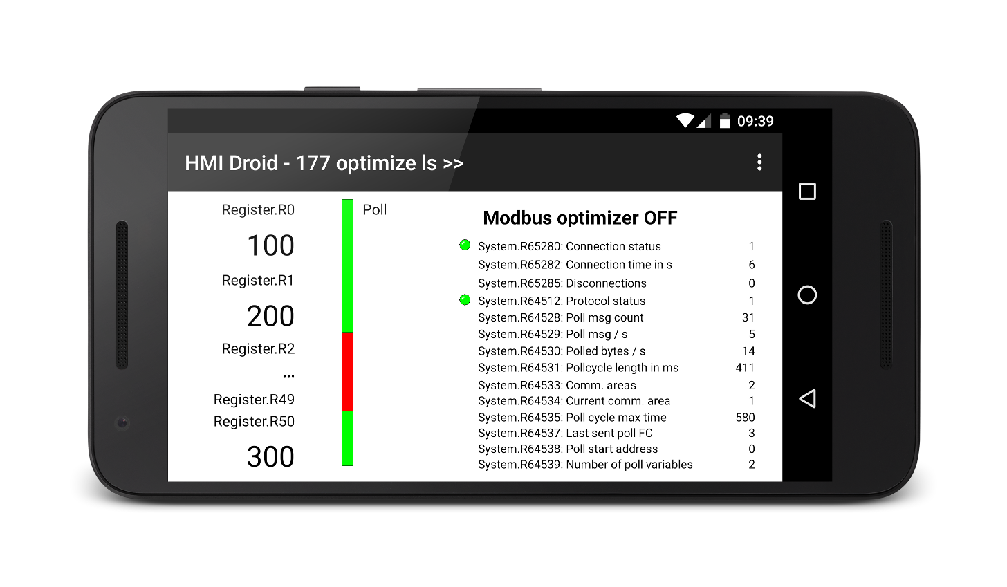 HMI Droid - Optimizer off