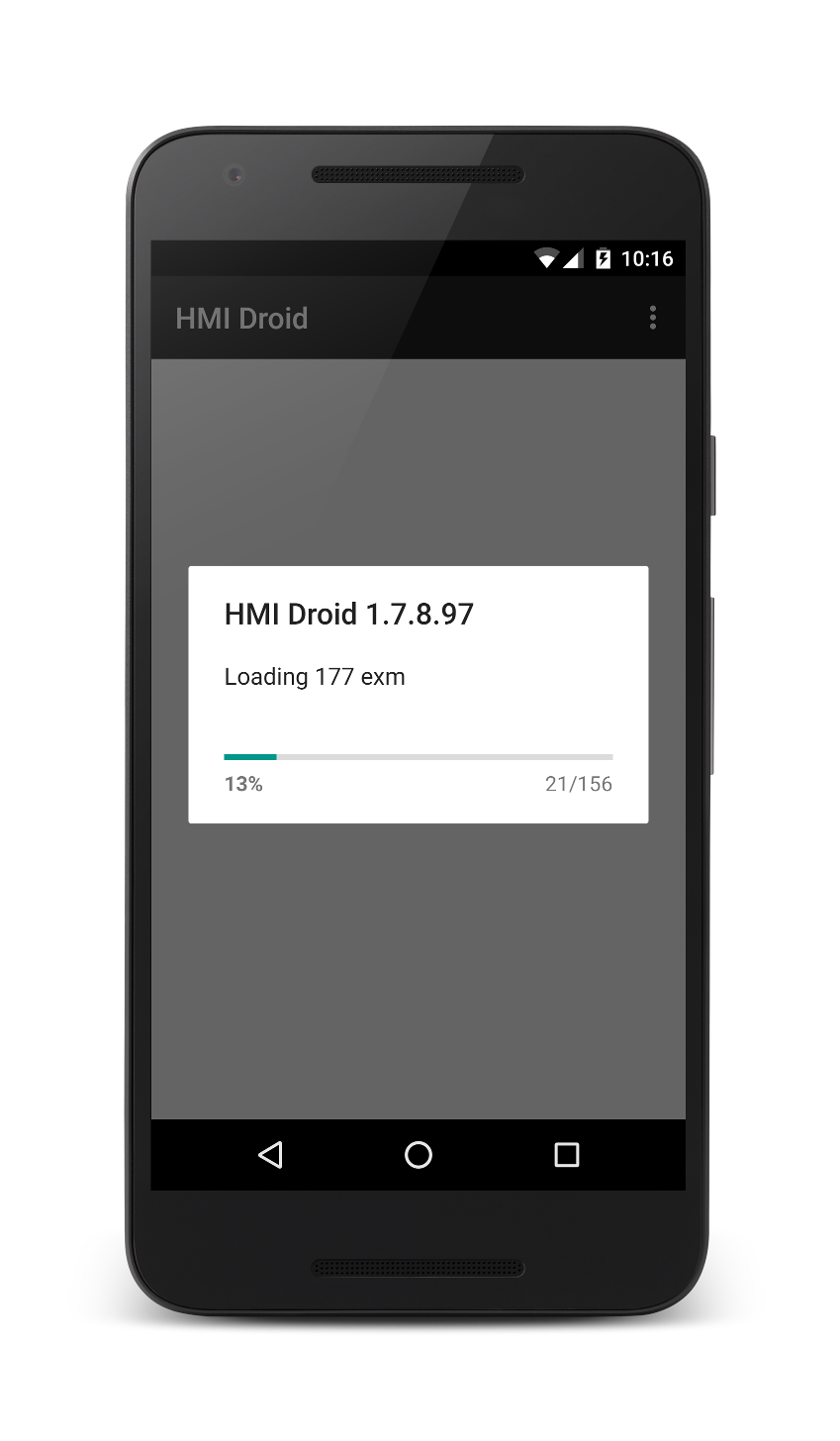 HMI Droid - Launch screen