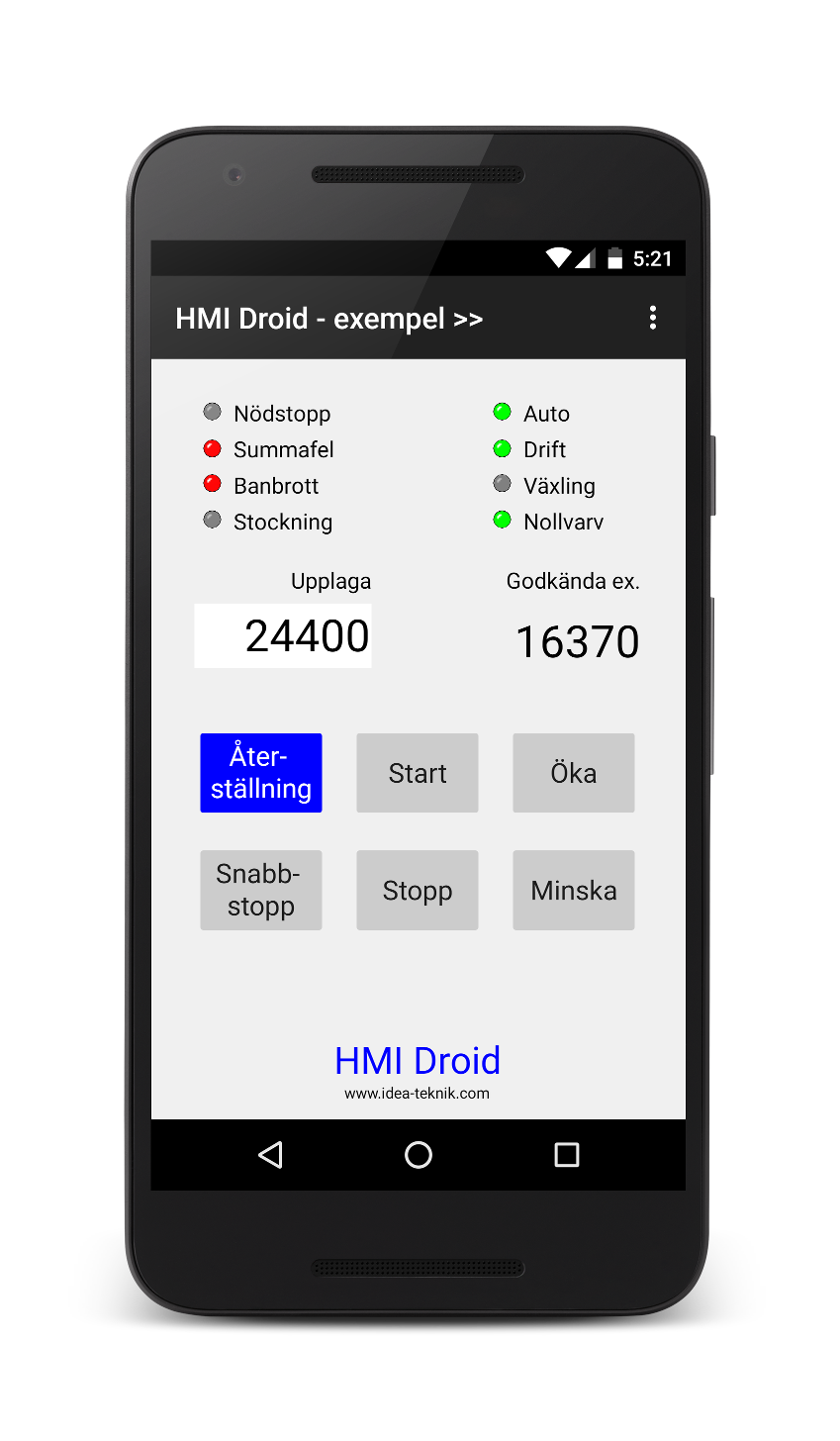 HMI Android Droid app phone tablet