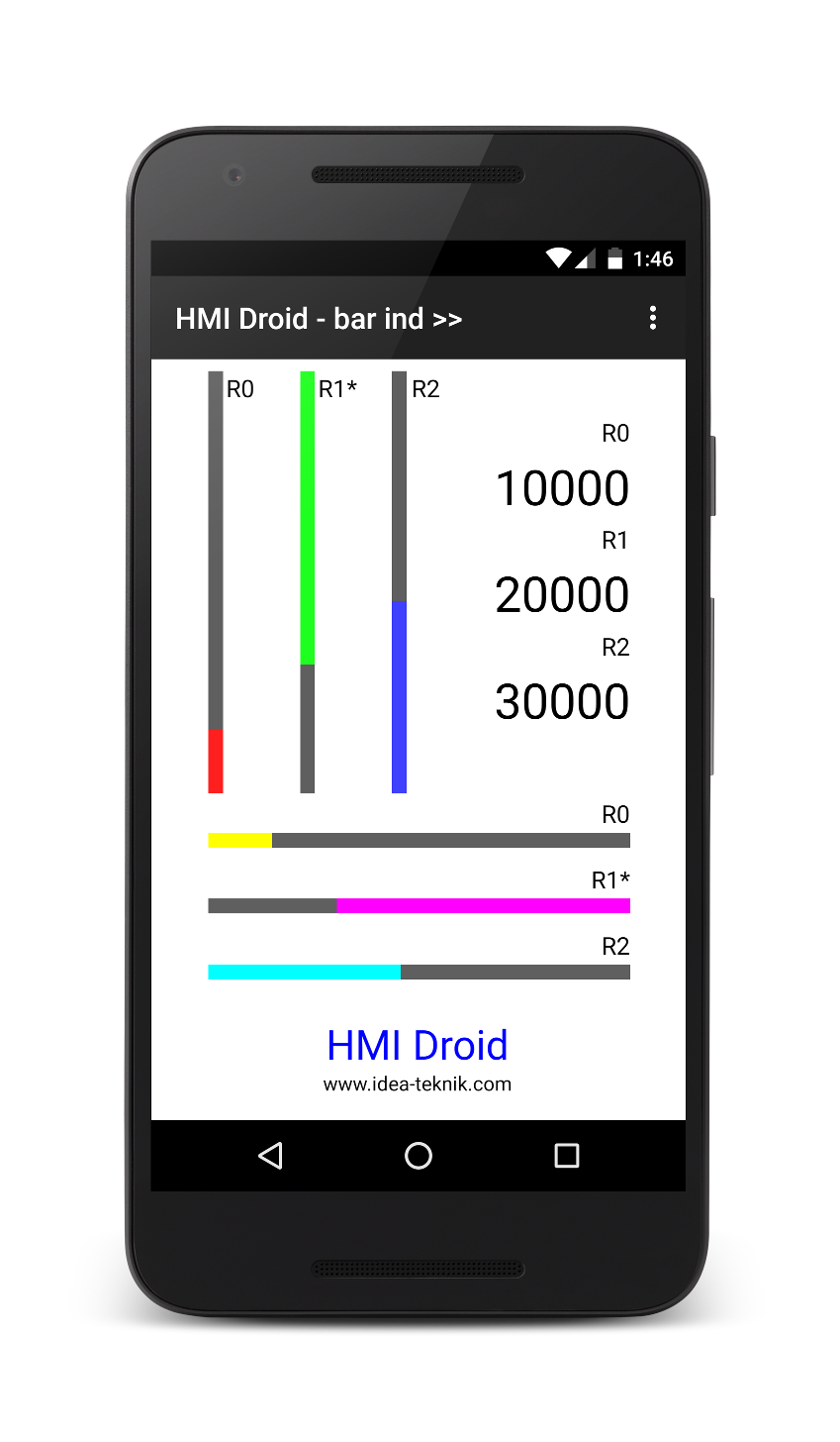 hmi droid bar indicator