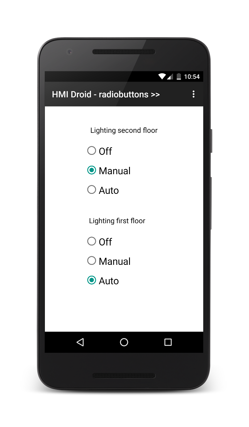 HMI Droid radiobutton